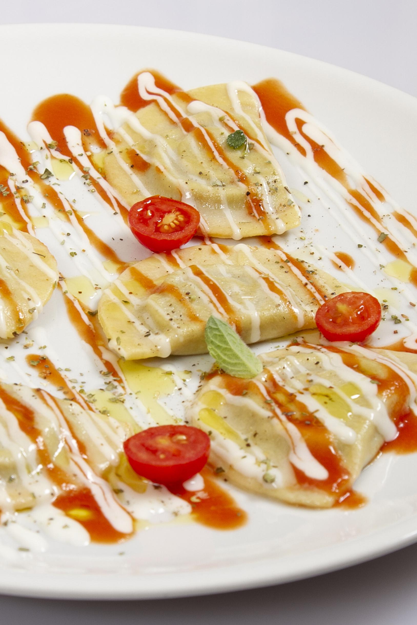 Mezzelune alla parmigiana
